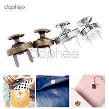Dophee-portefeuille à fermoir magnétique 14/18mm   Lot de 10 pièces, 2 couleurs pour bricolage, fermoir fermeture boutons, vêtements