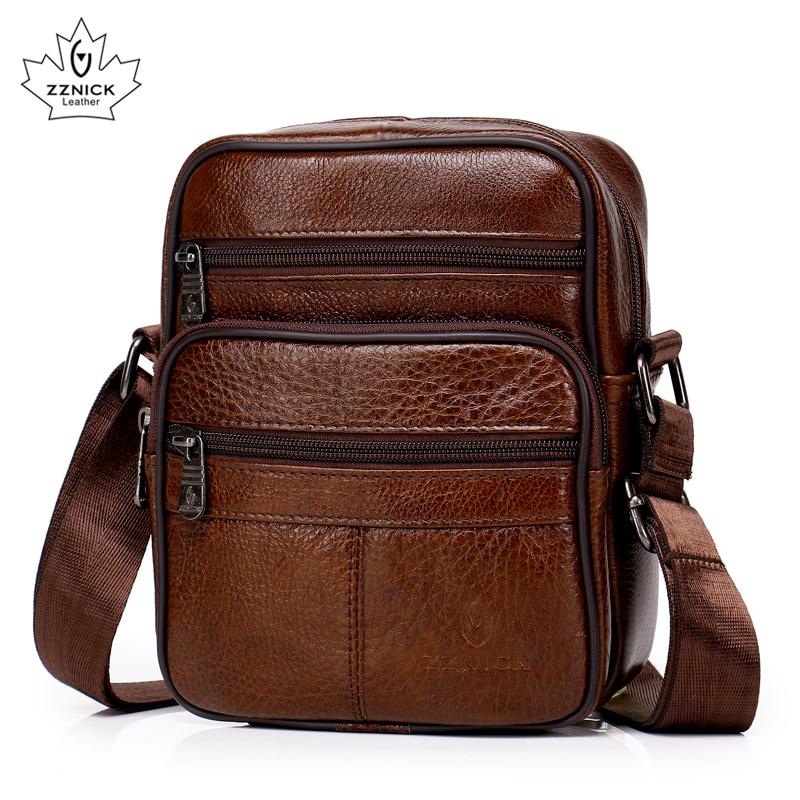 Genuine Leather Crossbody Men Messenger Bag Hot Sale Male Small Man Flap Fashion Shoulder Bags Men's