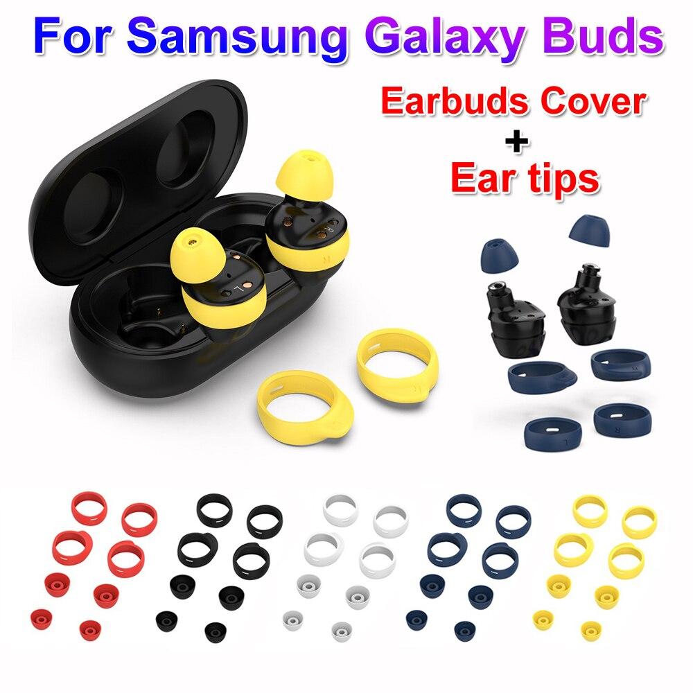 Nueva moda de silicona en-oído auriculares cubierta Anti-Slip caso Auriculares auriculares almohadillas Kits de puntas de oreja para Samsung Galaxy brotes