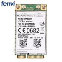 Wireless Crad Adapter HUAWEI EM820U (unlocked) WCDMA GSM WWAN Mini PCI-E Card HSPA +21Mbps 3G Module for laptop