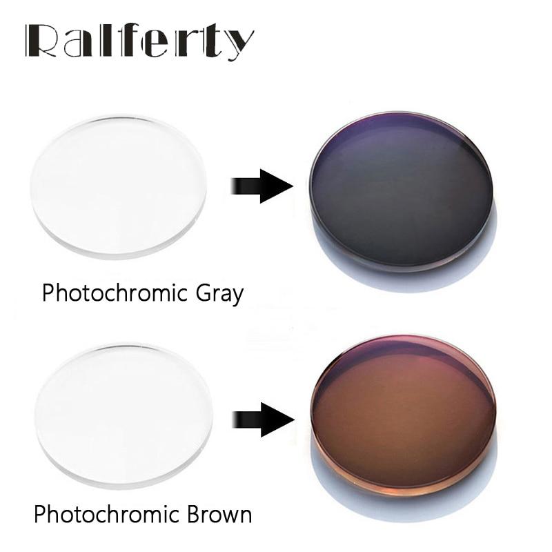 Ralferty 1.56 1.6 1.67 Photochromic Lens Chameleon Sunglasses Spectacle Clear Color Myopia Hyperopia Prescription Optical Lenses
