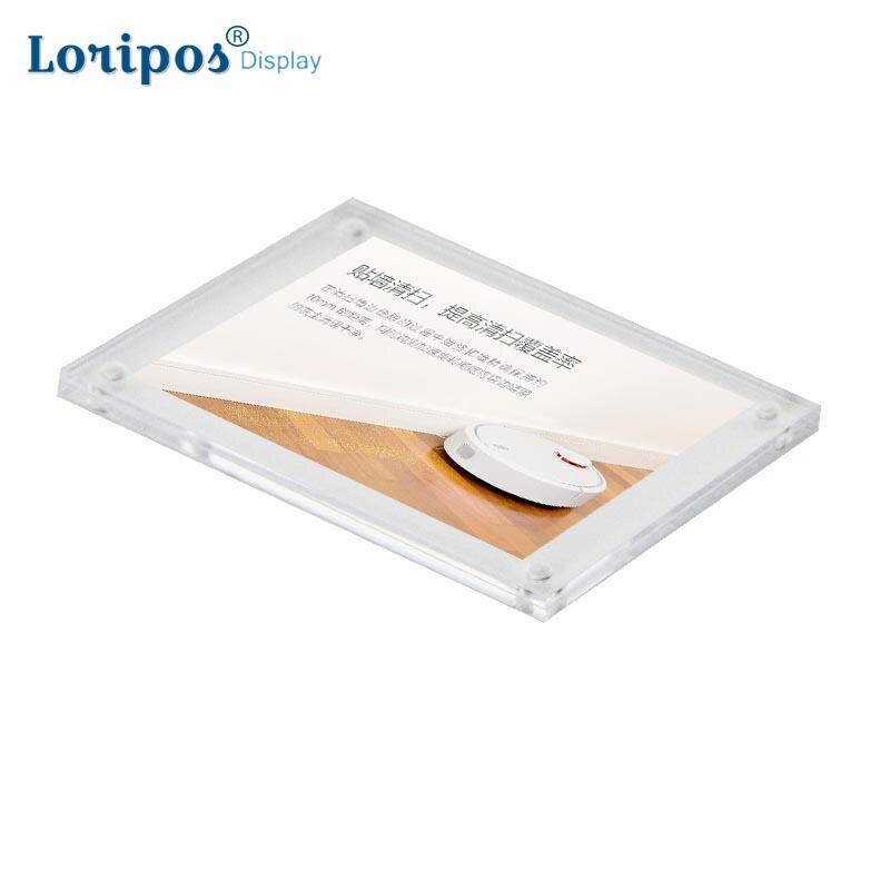 Небольшой отдельно стоящий прозрачный акриловый Магнитный выставочный стенд для фотографий фоторамка новый настенный держатель для вывесок бумажная карта постер крышка