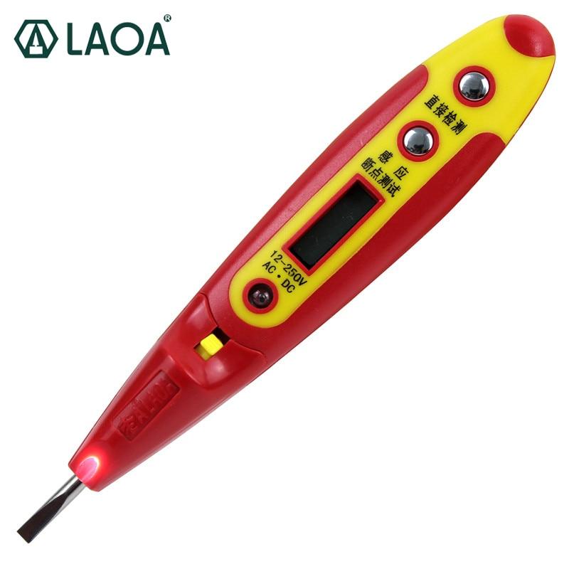 LAOA Электрический цифровой индикатор-карандаш, измеритель напряжения, вольтметр, розетка, настенная, AC, DC, детектор напряжения в розетке, сен...