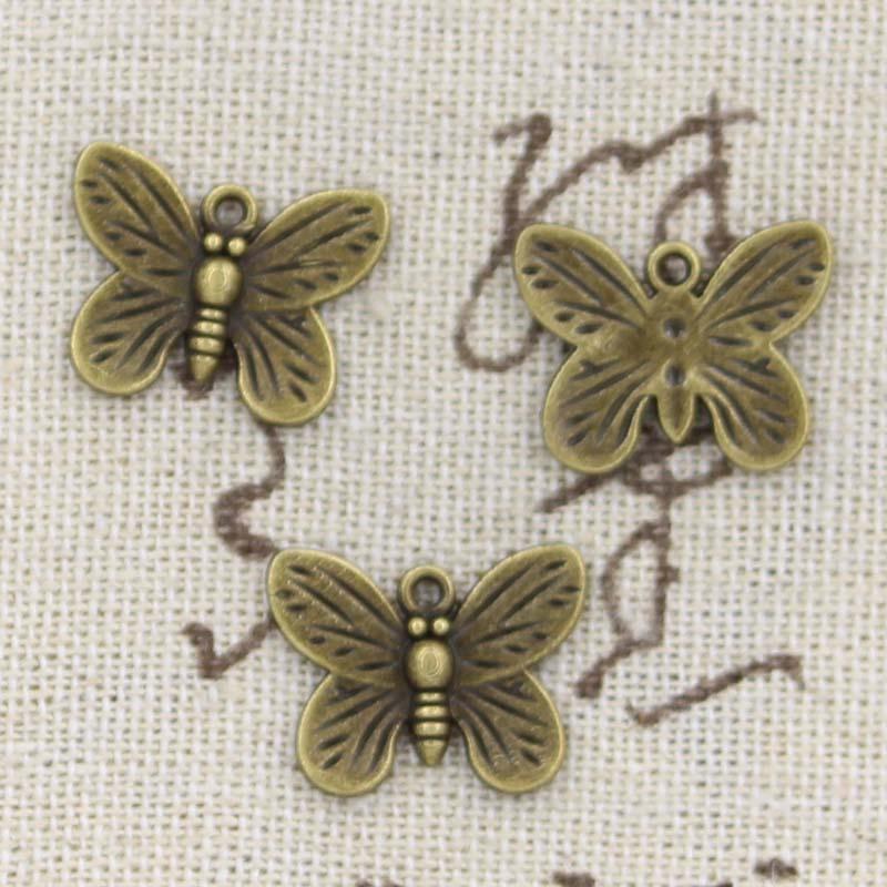 12pcs Charms Butterfly 13x17mm Antique Making Pendant fit,Vintage Tibetan Bronze,DIY Handmade Jewelry