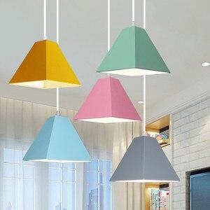 Modern LED Indoor Lamp Pendant Light Colorful Metal Cute Cartoon Lighting Bedroom Ceiling Restaurant Bar Decorated Light Fixture
