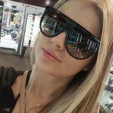 TrendyMate 2017 Flat Top Sun Glasses For Women Design Oversize Shield Sunglasses Women UV400 Gradien