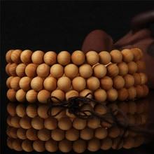 6 8mm 108 wengé perles de prière en bois tibétain bouddhiste bouddha Bracelet pour femmes hommes Bracelet bijoux