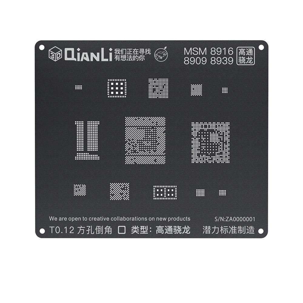 Qinali iBlack 3D posicionamiento negro reboleo de plantilla para Android reboleo de plantilla para EMMC DDR MSM8916 8917, 8909, 8939, 8953, 8940