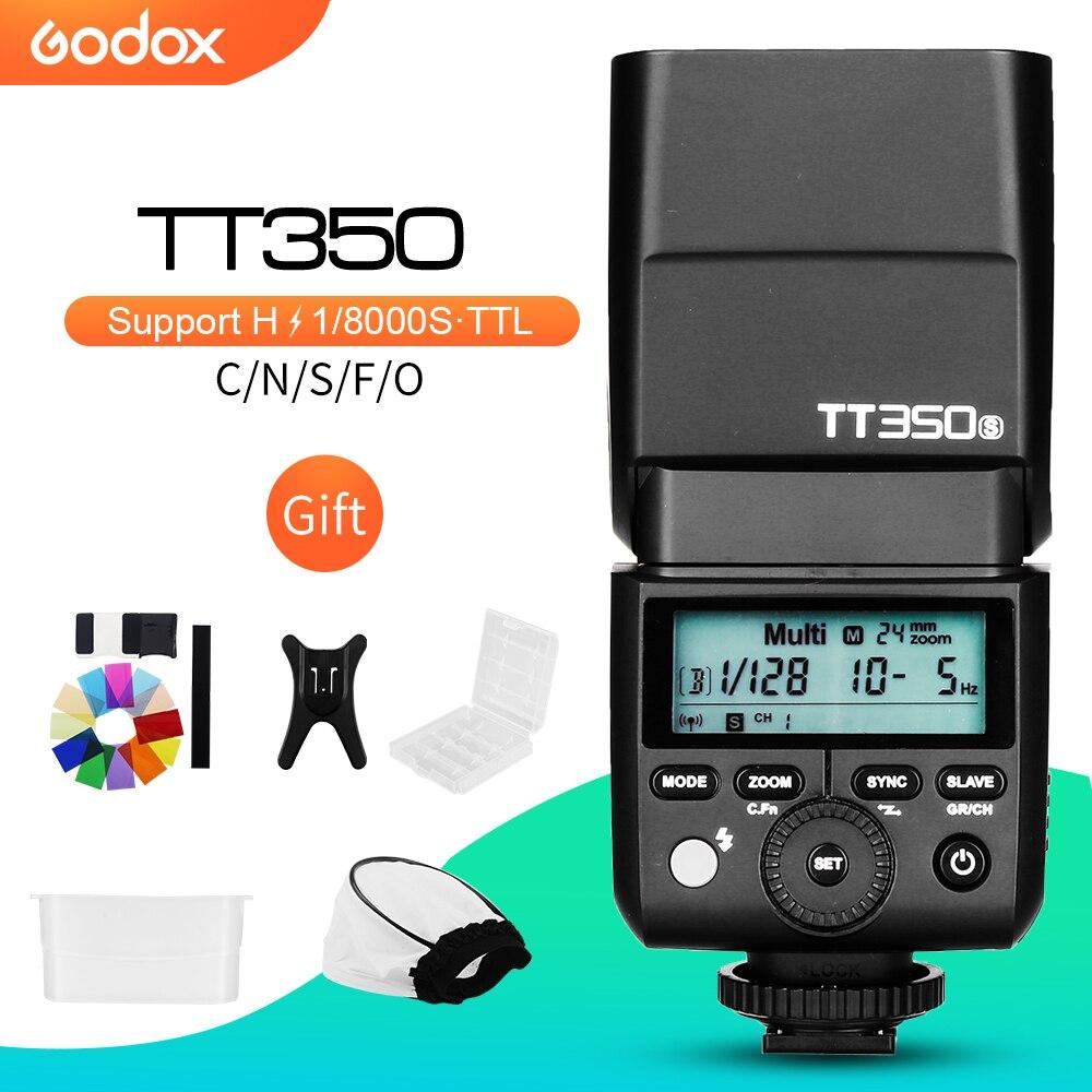 Flash pour appareil photo Godox Mini Speedlite TT350C TT350N TT350S TT350F TT350O TT350P TTL HSS pour Canon Nikon Sony Fuji Olympus Pentax