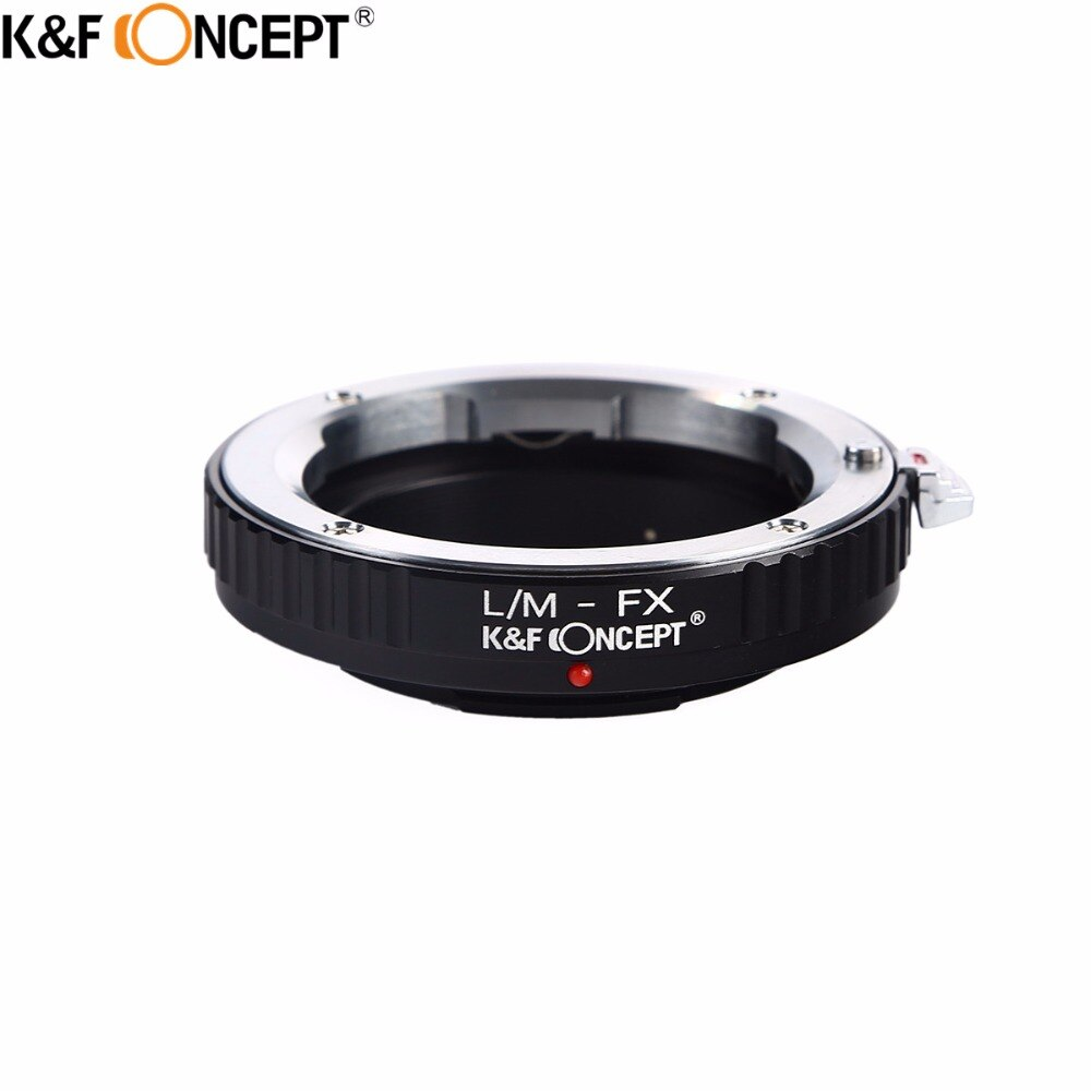 K&F CONCEPT Camera Lens Mount Adapter Ring of Metal for Leica M Mount Lens to for Fujifilm FX Mount X-Pro1 Camera Body lr fx leica r lens to fujifilm x pro1 mount adapter black