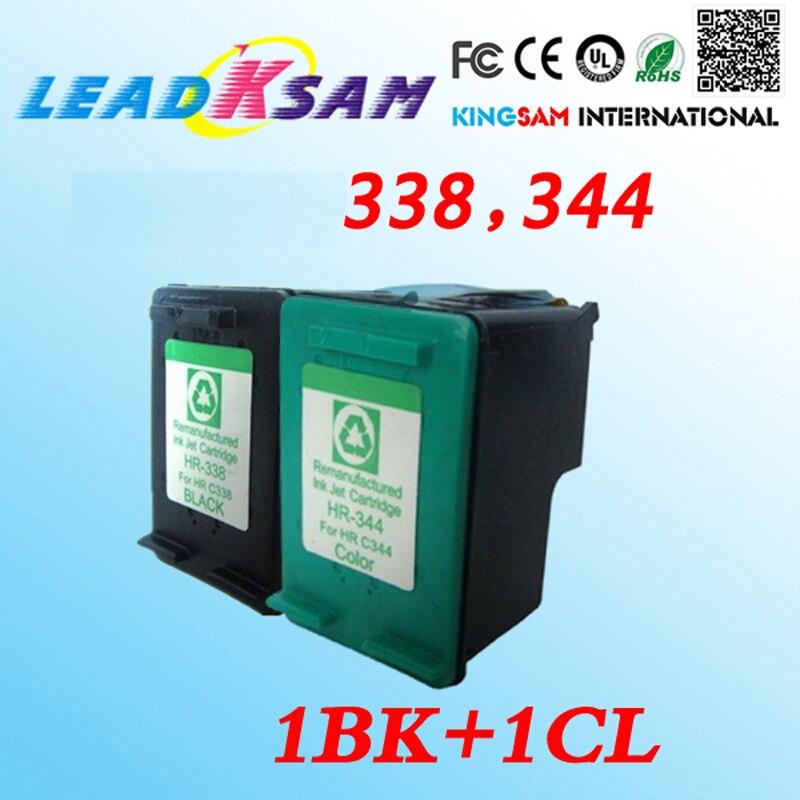 Hotsell 2x cartuchos de tinta compatible para hp338 344, sustitúyase compatible para hp344 338 Officejet K7100 K7103 K7108 PSC 2355 de 100