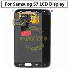 SUPER AMOLED Für Samsung Galaxy S7 G930F G930T G930A G930P G930W8 s7 rand G935F LCD Display Touchscreen Digitizer Montage