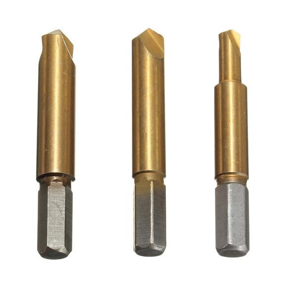 2015 Woodworking Real Drill Chuck Tools Brocas 3 Sets/lot _ 3pcs Rigid Titanium Broken Screw Bolts Extractor Easy Out Remover