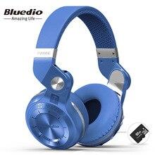 Bluedio T2 + auriculares bluetooth plegables a la moda BT 5,0 compatible con radio FM y funciones de tarjeta SD música y llamadas telefónicas