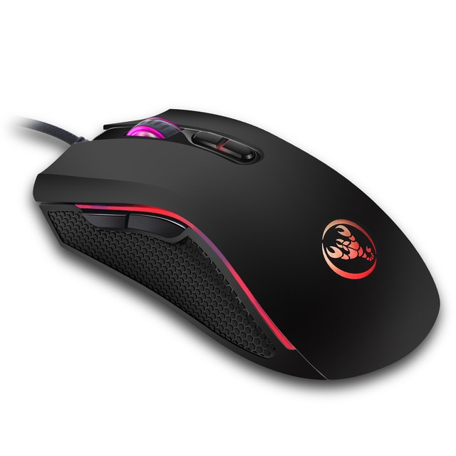 Hongsund brand High-end optical professional gaming mouse with 7 bright colors LED backlit and ergonomics design For LOL CS 4