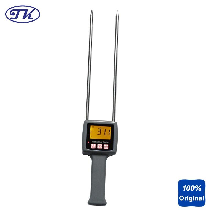 Portable Digital Cotton Moisture Meter Seed-cotton Lint Moisture Tester TK100C