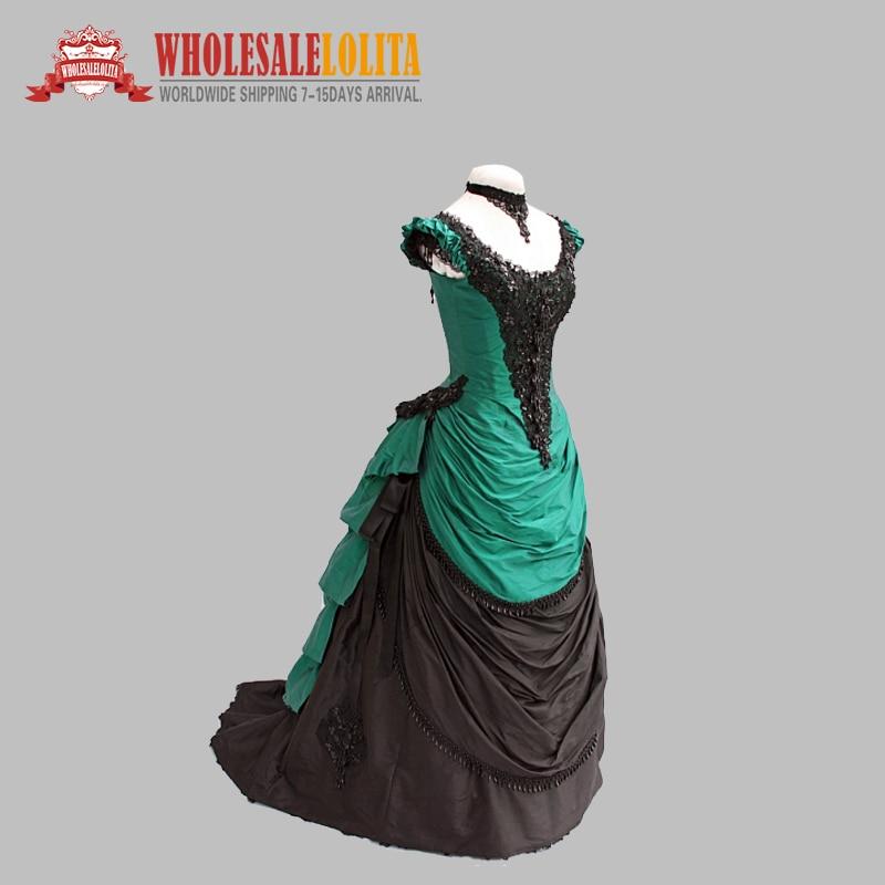 Vestido victoriano gótico del baile de la máscara de María Antonieta DE LA VENTA superior