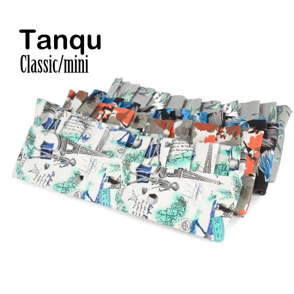 Tanqu, minivolantes clásicos de tela de lona Floral, embellecedor con pliegue de volante para Obag O accesorio de bolsa