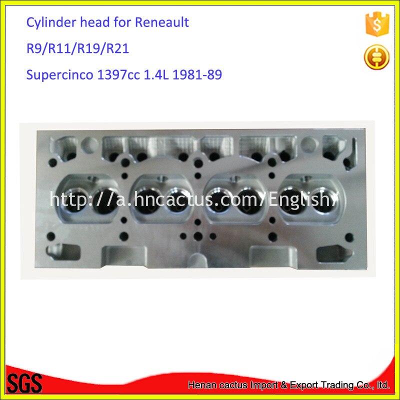 Partes del motor auto R9 R11 R19 R21 cabeza de cilindro para Renault C1J-C2J Supercinco 1397cc 1.4L 1981-89