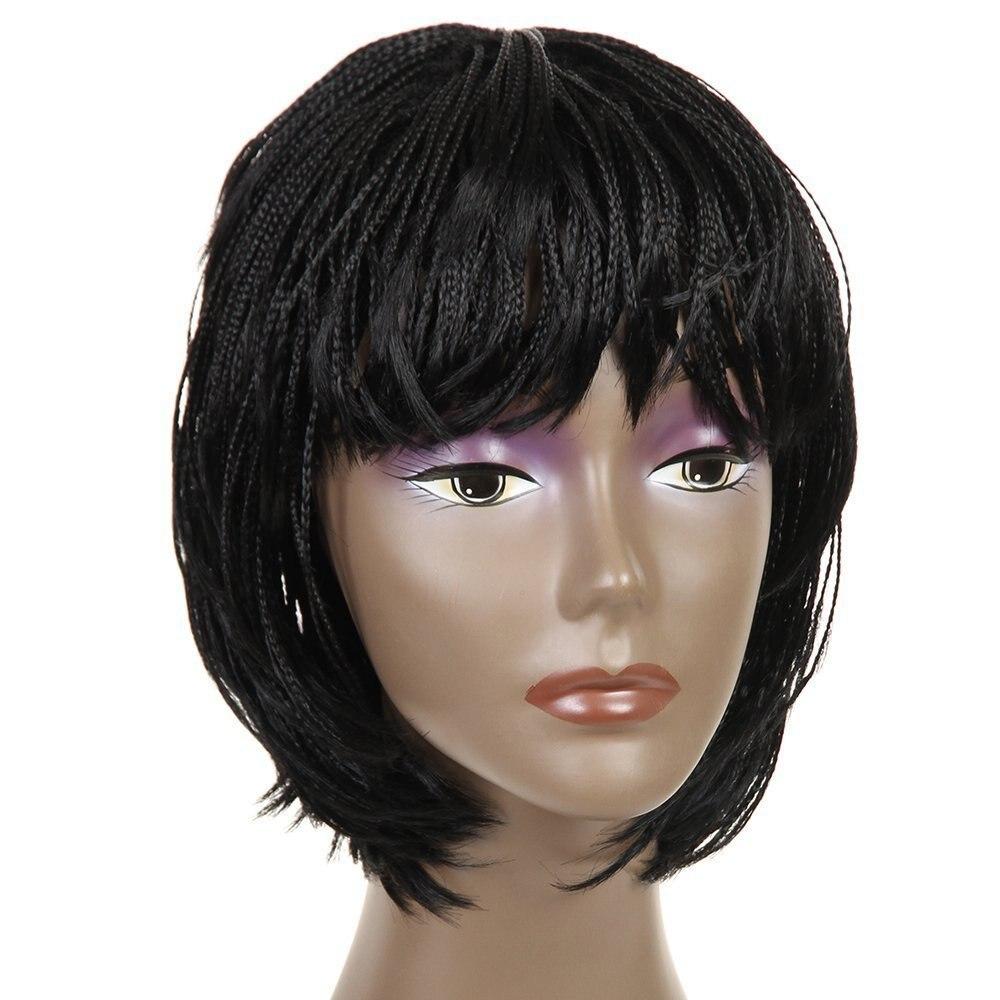 Feibin pelucas de pelo trenzado afro corto Twist box Peluca de pelo trenzado sintético para mujeres naturaleza negro envío gratis B195