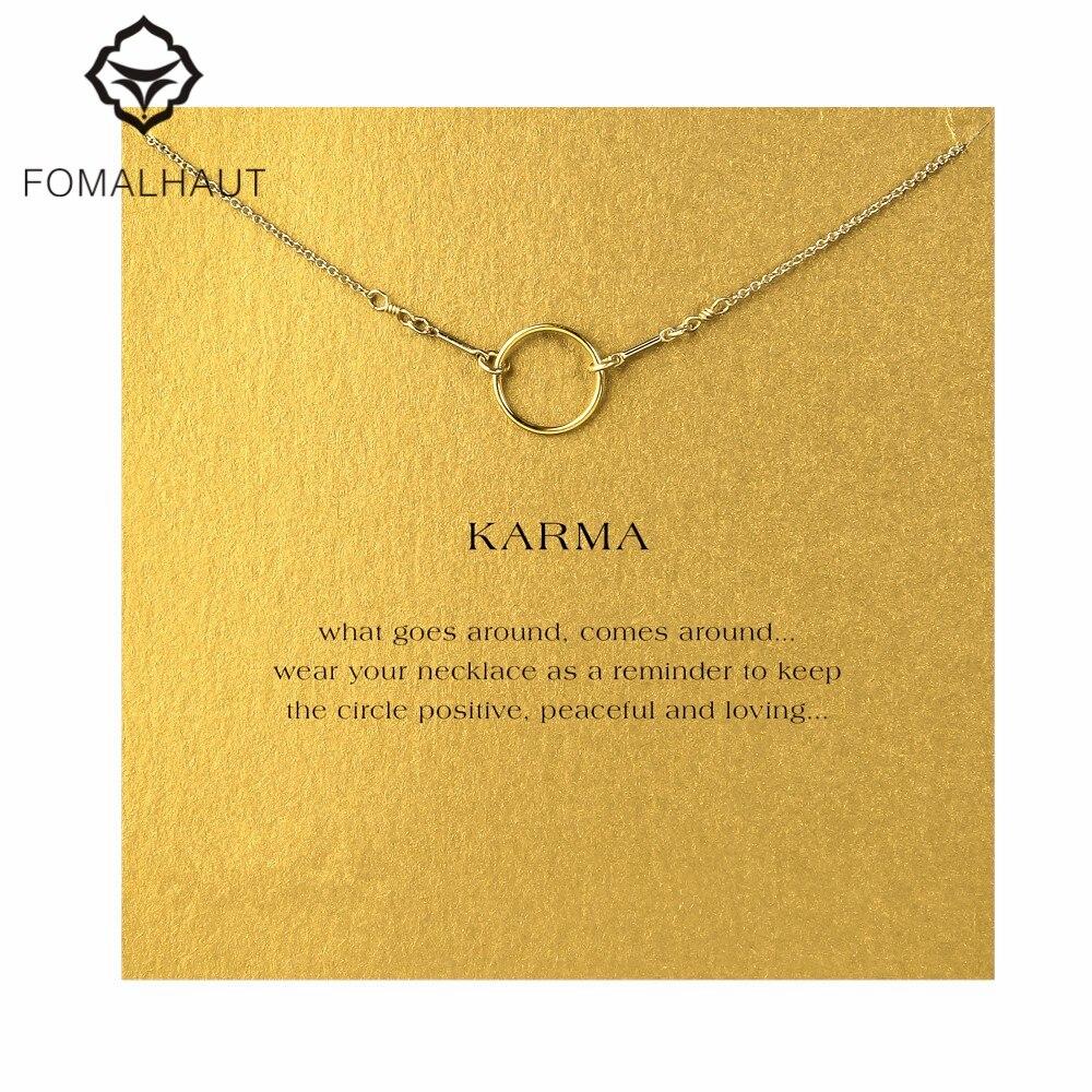 The original karma necklace Pendant necklace Clavicle Chains Fashion Statement Necklace Women FOMALHAUT Jewelry