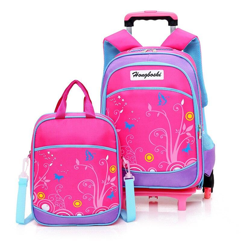 Mochila das crianças crianças mochila com roda da escada trolley sacos de escola crianças rodas saco de livro para meninos meninas mochilas