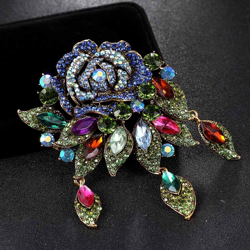 12pcs/lot wholesale price Big size colorful flower Brooches for Women Wedding Jewelry Best Costume Broaches Accessories