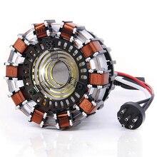 11 échelle fer homme MARK2 Arc réacteur une génération de fer brillant homme coeur modèle avec lumière LED figurine jouet 6