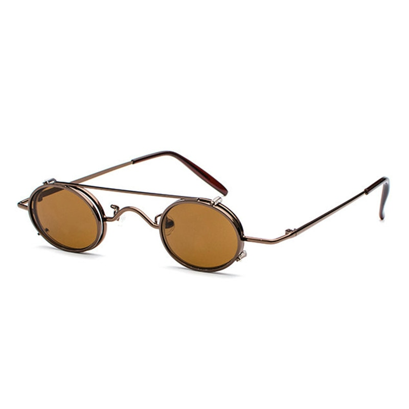 Mincl/2018 gafas de sol de miopía para hombres Clip de miopía Clip en doble uso gafas de conducción de espejo gafas de sol ovaladas pequeñas FML