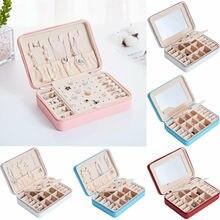 Boîte à bijoux de voyage   Meilleure vente, organisateur de bijoux en cuir ornements, étui de rangement Portable en cuir PU de haute qualité
