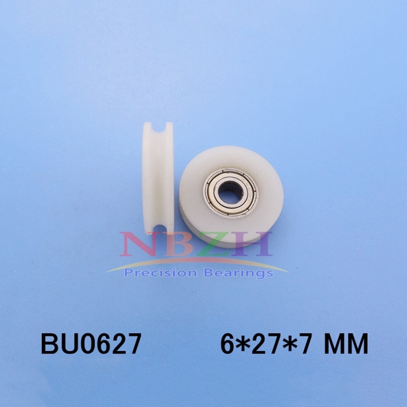 U groove ball bearing 0627UU BU0627 BU0627U 627zz 627Z 627 window and door bearing 6*27*7mm