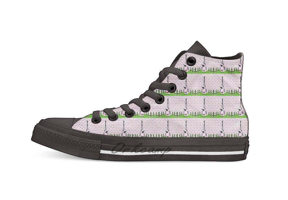 Rosa caniche Paris Casual High Top lona zapatos zapatillas Zapatillas de andar ligeras