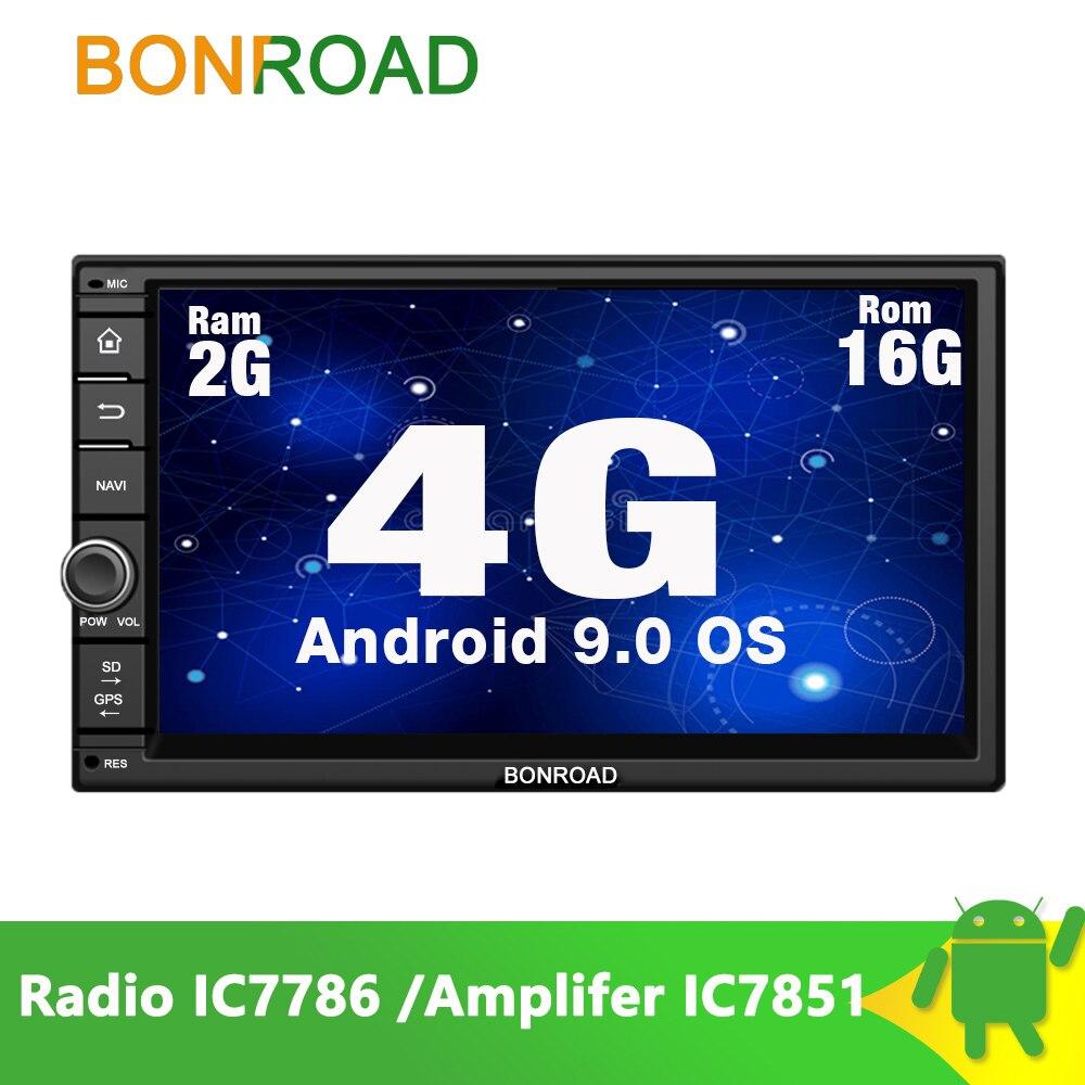 Bonroad reproductor Multimedia para coche para 2 Din doble para Nissan Android 9,0 2G + 16G Wifi Radio 4G Video GPS MP3 pantalla táctil (SIN DVD CD)