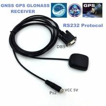 Livraison gratuite   9600 taux baud industriel DB9 RS232, protocole PS2 5V, alimentation électrique, Module récepteur, GNSS GPS glonass, n7500183