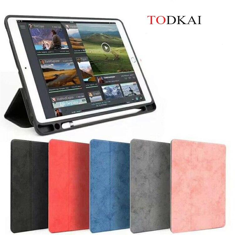 جراب مغناطيسي ذكي لجهاز iPad Pro 12.9 ، مع حامل قلم ، جلد بولي يوريثان ناعم ، جراب حامل قلم لجهاز iPad Pro 12.9