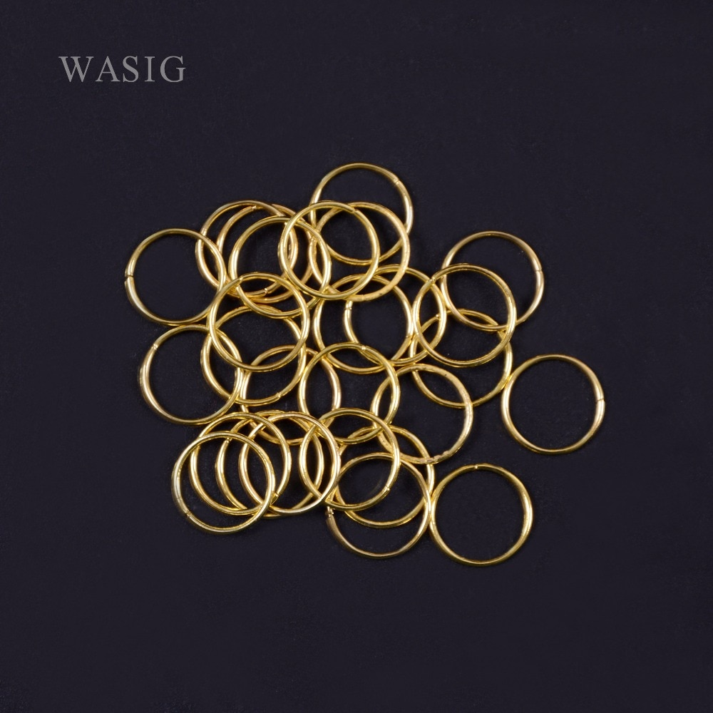 100 pçs/lote ouro/prata trança de cabelo dreadlock grânulo manguito clip trança hoop círculo aprox 10mm buraco interno