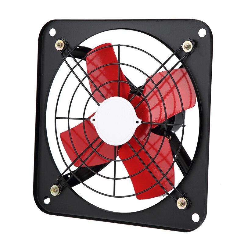 Extractor de aire de cocina de 220V, potente ventilador de succión Industrial de 12 pulgadas, ventilador de ventilación de 1400RPM Y