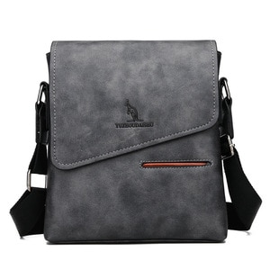 2019 New Business Travel Men's PU Solid Color Large Capacity Messenger Bag Classic Design Casual High Quality Messenger Bag