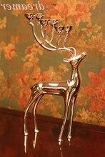 Vente de bougeoirs européens en or et argent   Bijoux de mode squat et cerf debout avec ornements de bougies
