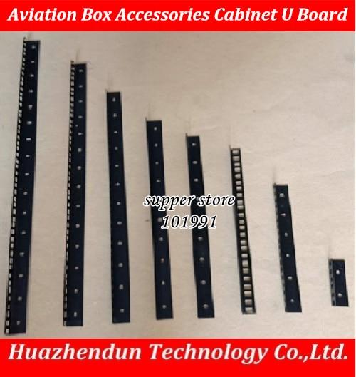 10PCS Aviation Box Accessories Cabinet unilateral U Board  10U 12U 16U bracket  U baffle