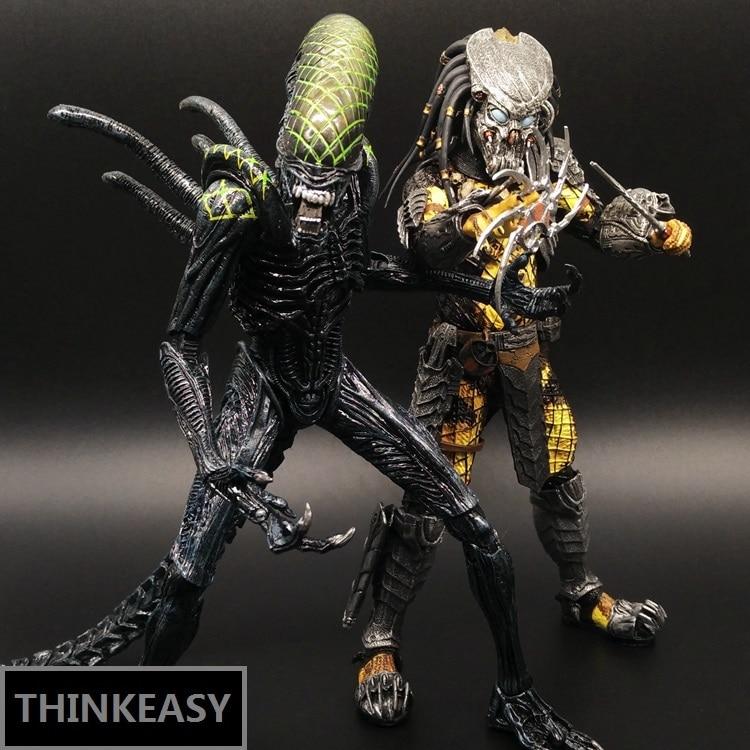 Aliens vs Predator AVP Ganso Lone wol Joint can move doll movie Person модель украшения фигурки игрушки Подарок Компьютерный стол украшение