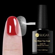 UR sucre trempé couche de Base mat pas dessuyage couche de finition UV Gel vernis imbiber Gel dart des ongles longue durée