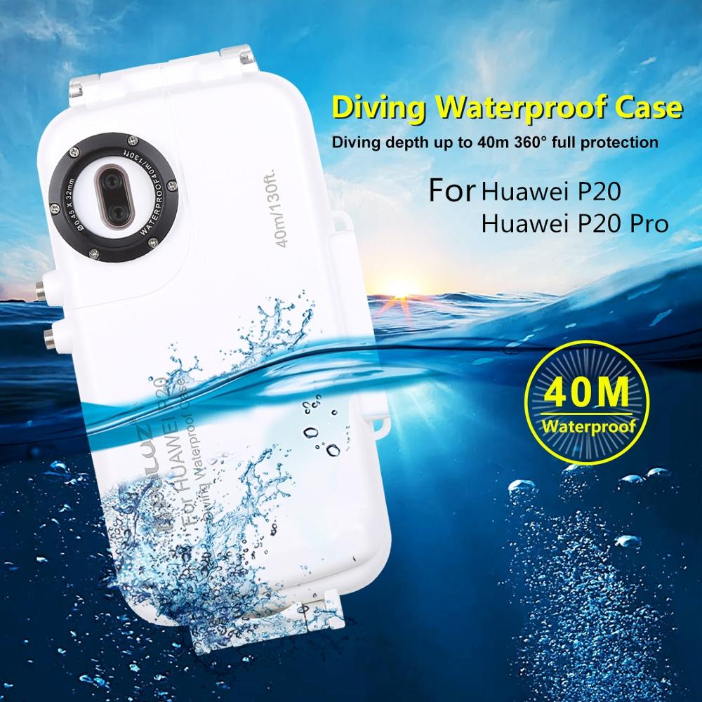 40m/130ft Waterproof diving housing photo video taking underwater cover case for Huawei p20 P20 Pro mobile phone case for Huawei