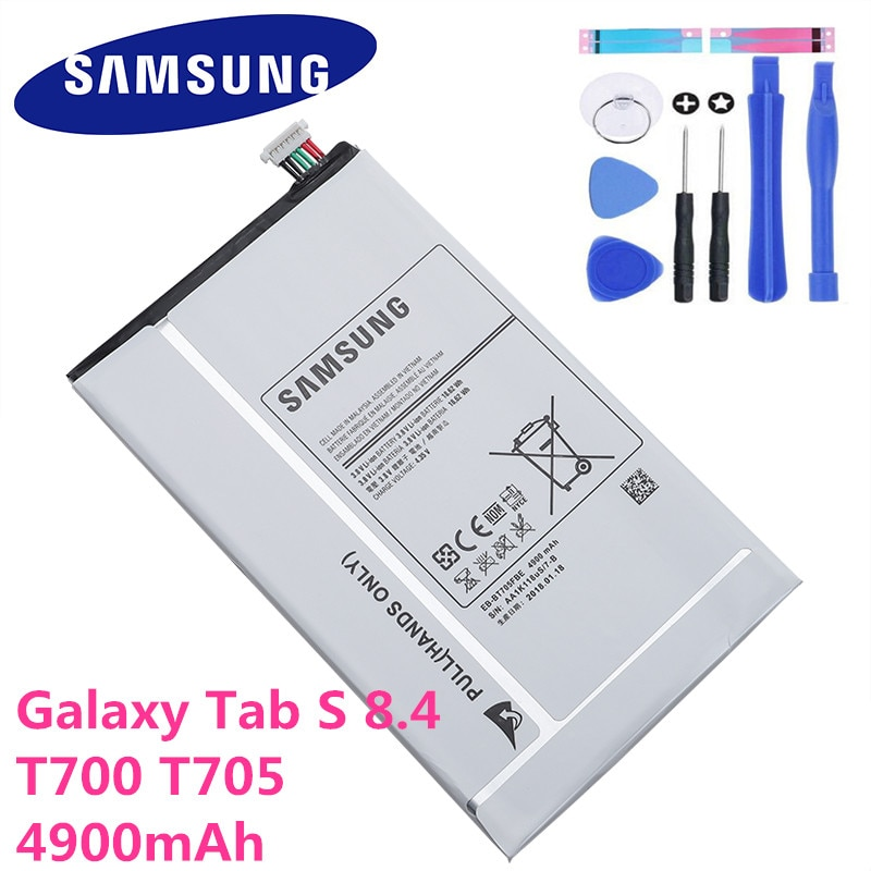 4900mAh Samsung планшет Замена батареи для Samsung Galaxy Tab S 8,4 T700 T705 SM-T700 T701 SM-T705 EB-BT705FBE