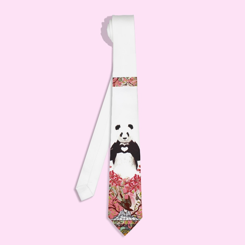 Free Shipping New Male mens casual fashion man British Groom Ceremony Dress Up Casual necktie Tie party  Bear PANDA 8cm 6cm
