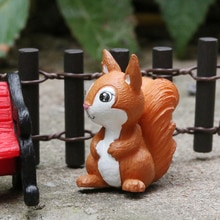 1PC DIY Ornament Micro Landscape Fairy Garden Little Model Home Decor Squirrel Figurine Miniature Animal Table Decoration Craft