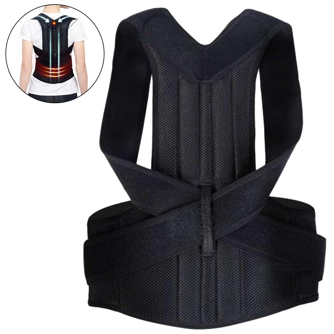 Pro Back Trainer Corrector de postura de espalda hombro Lumbar Brace correa de soporte de columna vertebral ajustable adulto corsé corrección de postura cinturón