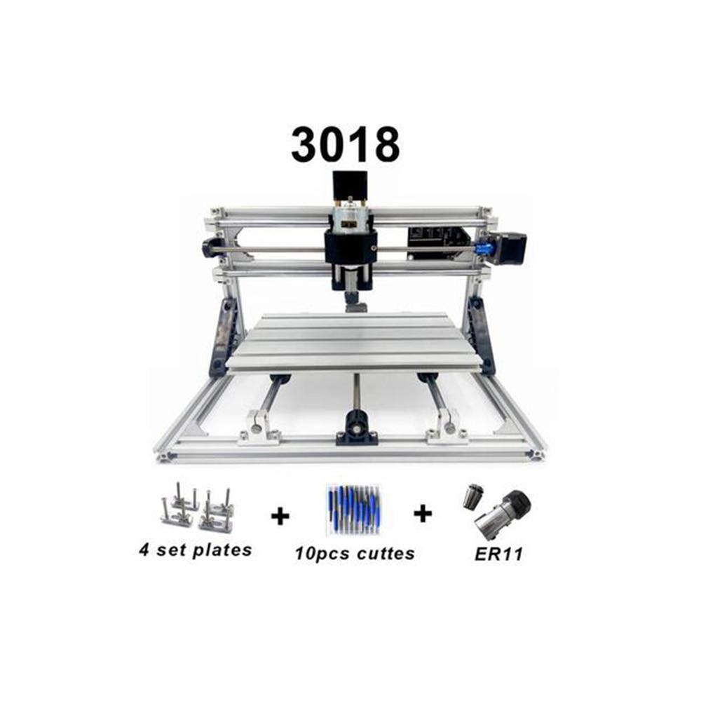 CNC3018 withER11 diy mini máquina de grabado cnc, grabado láser, Pcb PVC fresadora madera router cnc 3018 mejores juguetes avanzados