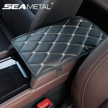 Couverture de boîte daccoudoir de voiture   En cuir PU, couverture de repose-bras de voiture, rangement de voiture, protection de tapis, accessoires pour la coiffure automobile