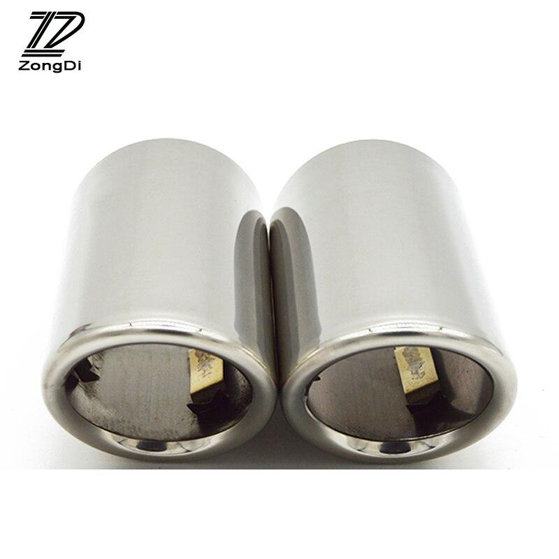 Silenciador de tubo de escape ZD 2 uds para Audi A3 A1 Q5 A4 B8 Volkswagen Tiguan VW Passat CC B7 CC accesorios para automóviles